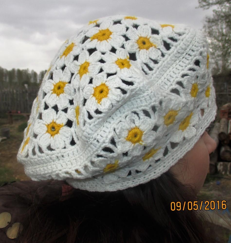 Вязание беретов на весну крючок 930